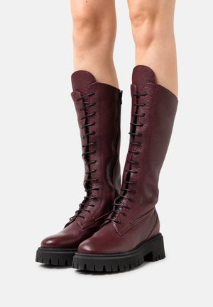 RUMIA - Lace-up boots - money magenta