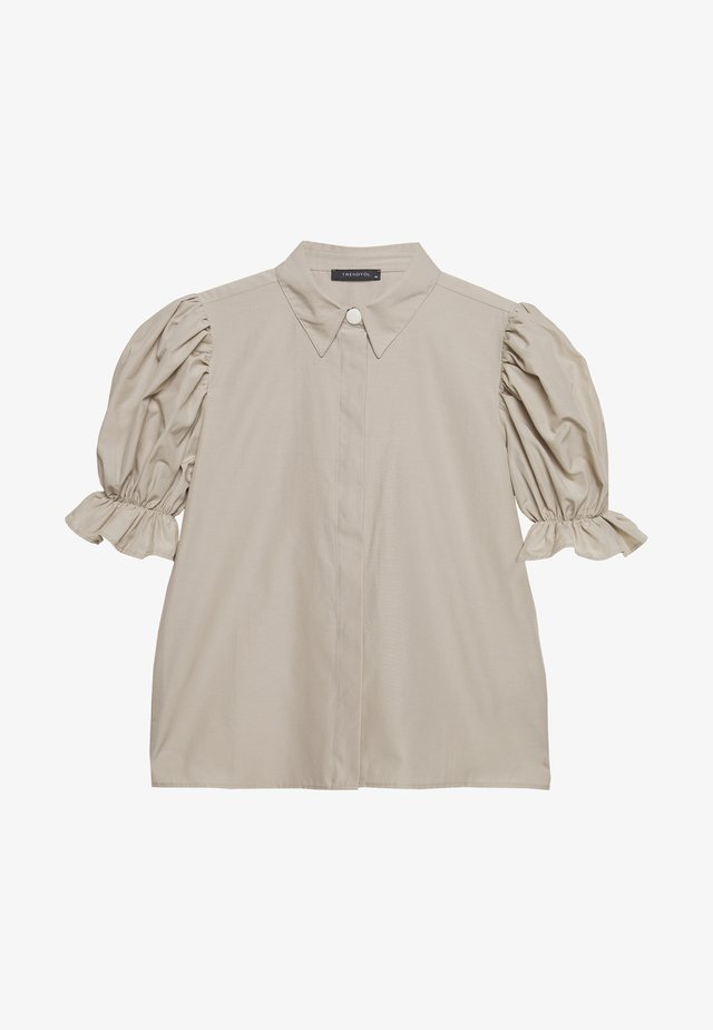 Button-down blouse - stone