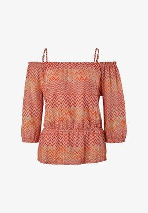 Jumper - coral zic zac knit