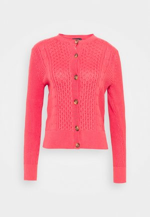CUTE CABLE CARDI - Cardigan - pink