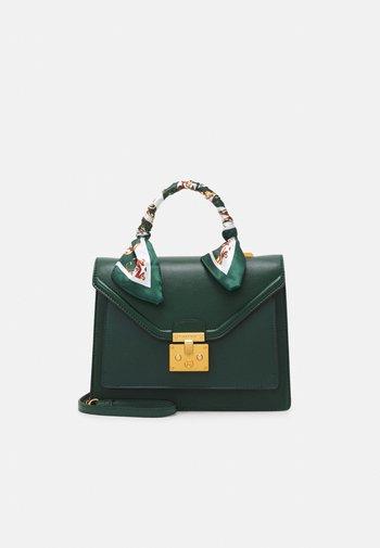 KELLA - Handbag - dark springs/chocolate gold-coloured