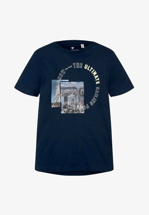 Print T-shirt - kids dress blue