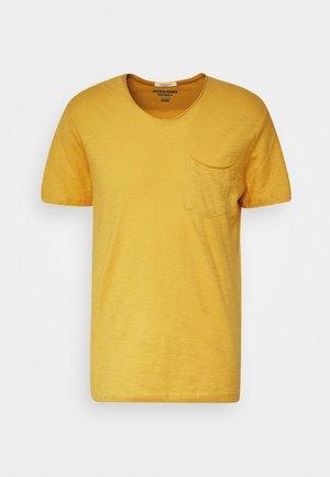 JORAUTUMN ORGANIC TEE VNECK - Basic T-shirt - spicy mustard