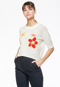 Rosa & Me - FLORA - Print T-shirt - star white - 2