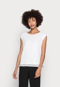 Esprit Collection - PAILETTEN SHIRT - Print T-shirt - off white - 0