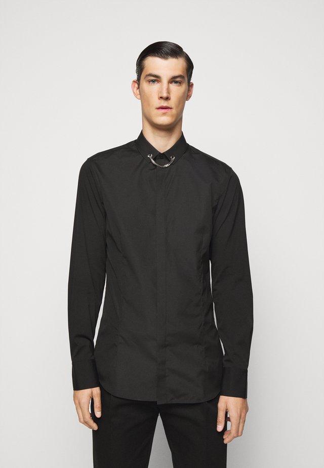 TUXEDO FLAT NECKLAC - Camicia - black