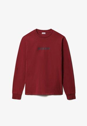 S-BOX LS - Maglietta a manica lunga - vint amaranth