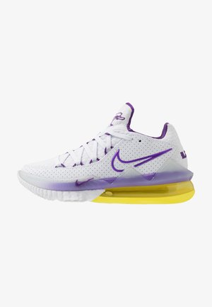 LEBRON XVII LOW - Basketball shoes - white/voltage purple/dynamic yellow