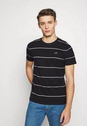 STRIPE CREW - T-shirt con stampa - black