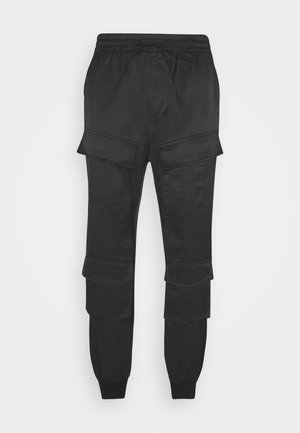 UTILITY PANTS - Cargo trousers - black
