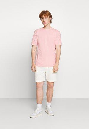 5 PACK - Basic T-shirt - navy/light pink/off white/grey marl/black