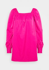 Who What Wear - RUCHED LONG SLEEVE BABYDOLL - Day dress - magenta - 0