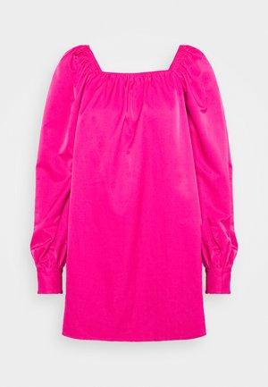 RUCHED LONG SLEEVE BABYDOLL - Day dress - magenta