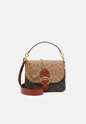 SIGNATURE CARRIAGE BEAT SHOULDER BAG - Kabelka - tan/brown/rust
