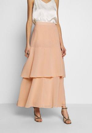 BLUSH TIERED SKIRT - Maxi skirt - blush