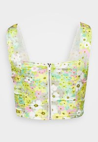 Glamorous - BUST DETAIL CROP - Blusa - green/pink - 1