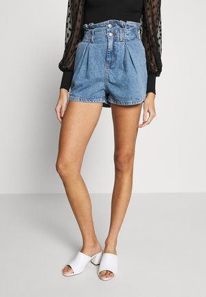 PAPERBAG - Shorts di jeans - blue denim