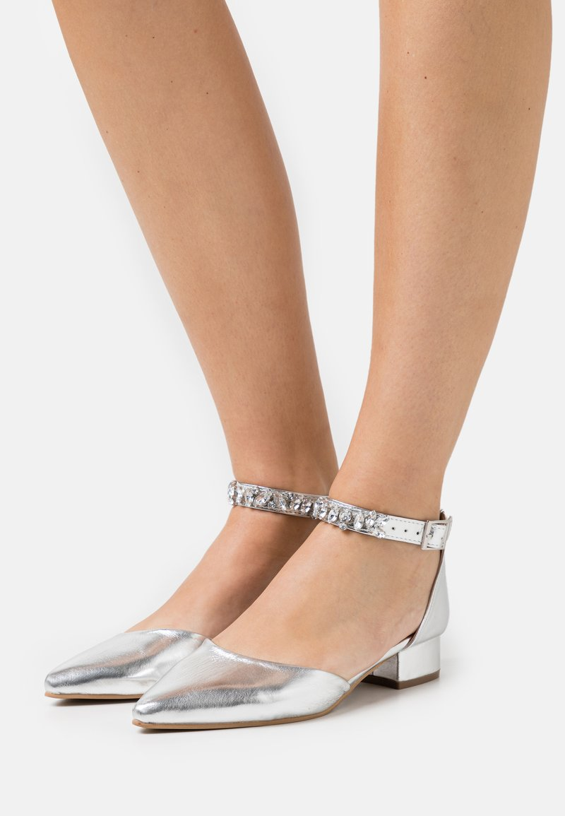 Dorothy Perkins - PELICANBLING ANKLE STRAP  - Classic heels - silver