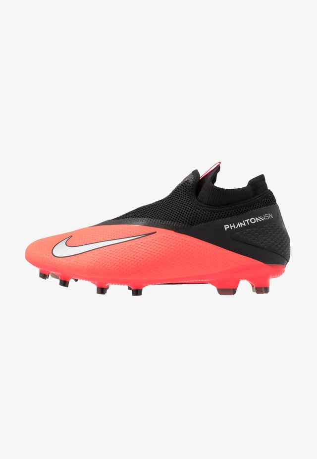 PHANTOM VISION 2 PRO DF FG - Moulded stud football boots - laser crimson/metallic silver/black
