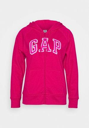 Zip-up hoodie - lipstick pink