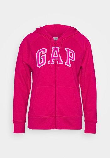 Mikina na zip - lipstick pink