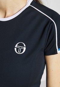 sergio tacchini - PLIAGE - Print T-shirt - navy/white - 4
