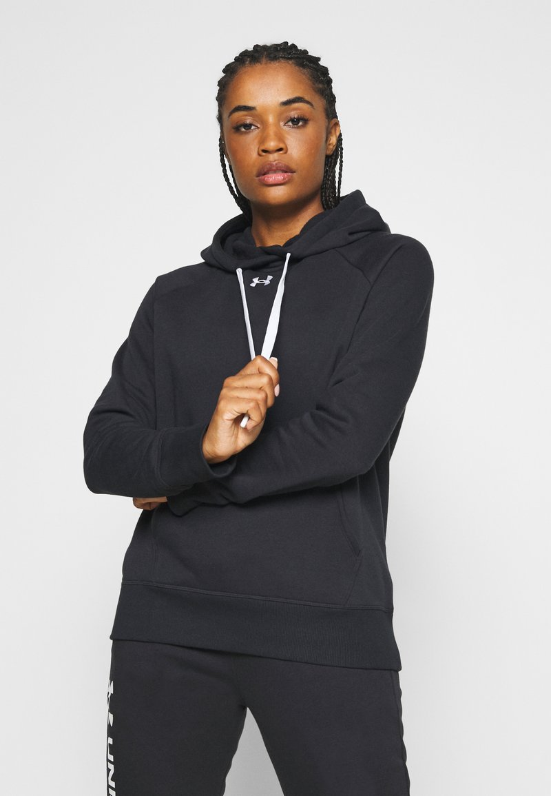 Under Armour - RIVAL HOODIE - Jersey con capucha - black