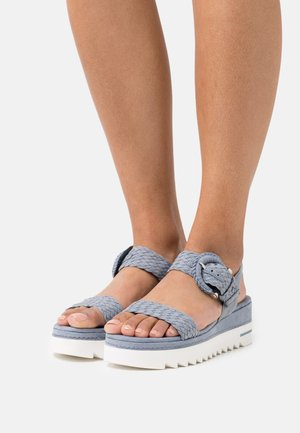 Platform sandals - denim