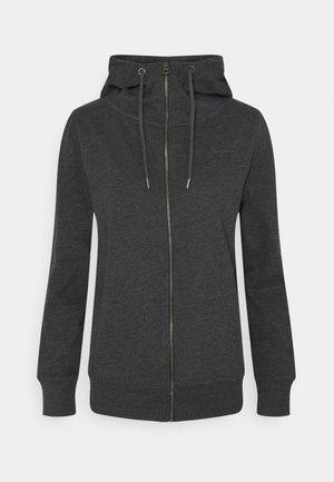 ANNE - Zip-up sweatshirt - charcoal
