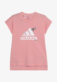 adidas Performance - BADGES ATHLETICS SHORT SLEEVE GRAPHIC TEE - T-shirt print - pink - 2
