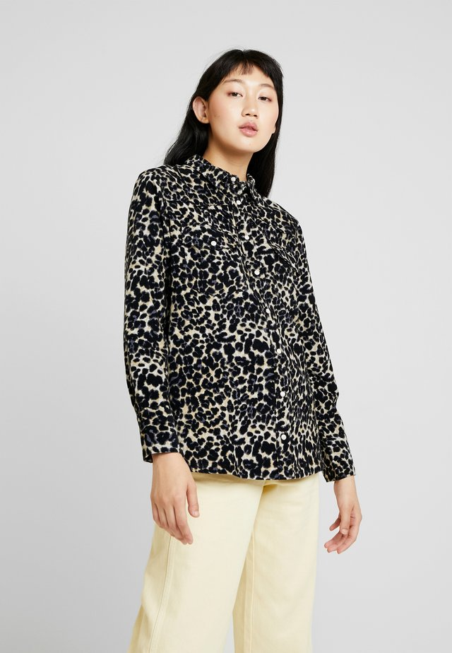 CAMERONE LEO - Button-down blouse - black