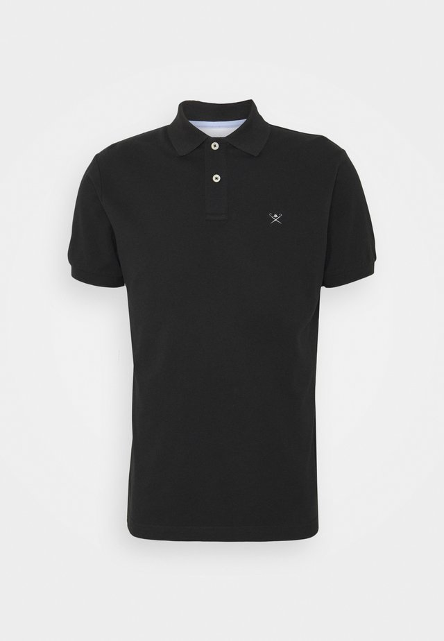 SLIM FIT LOGO - Polo - black/grey