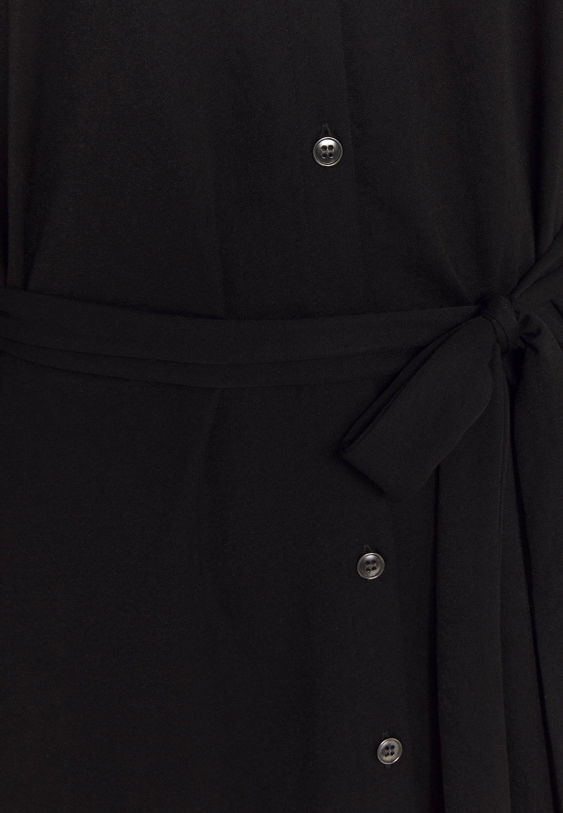 Vila VISAFINA MIDI DRESS Blusenkleid black/schwarz