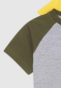 Friboo - BOYS RAGLAN TEE 4 PACK - T-shirt print - dark blue/red/light grey - 3