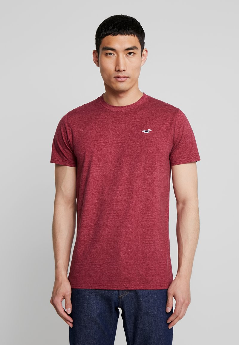 Hollister Co. - CREW - Print T-shirt - burg
