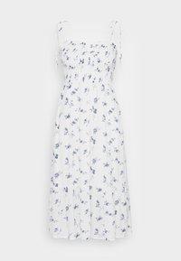 Abercrombie & Fitch - SMOCKED BODICE MIDI DRESS - Vestito estivo - white floral - 3