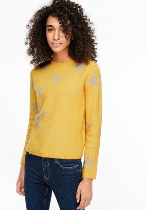 MIT GLANZSTERNEN - Jumper - yellow
