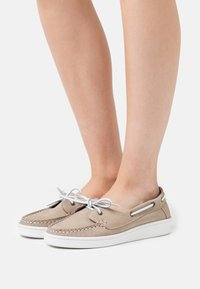 Barbour - MIRANDA - Boat shoes - stone - 0