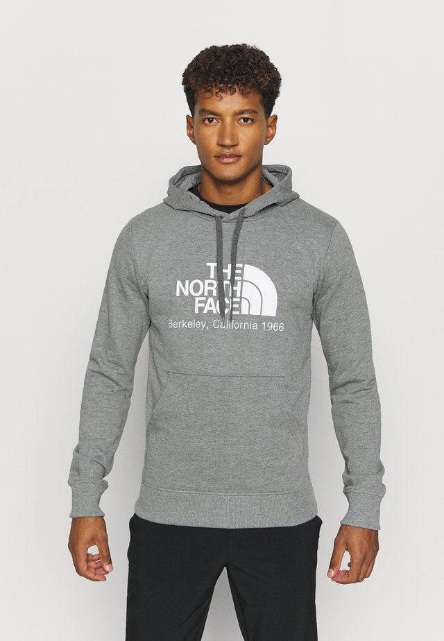 BERKELEY CALIFORNIA HOODIE - Luvtröja - medium grey heather