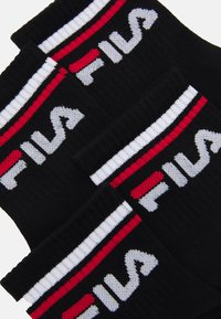 Fila - FILA QUARTER PLAIN SOCKS 5 PACK UNISEX - Strumpor - black - 1