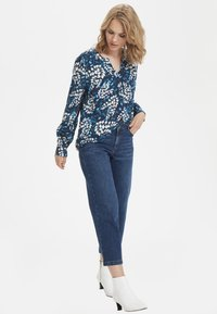 Kaffe - Button-down blouse - dark blue - 1