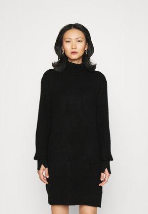 PIERCE T NECK DRESS  - Jumper dress - black