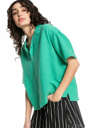 SURF CAMP - Button-down blouse - marine green