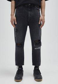 PULL&BEAR - Jeans baggy - black - 0