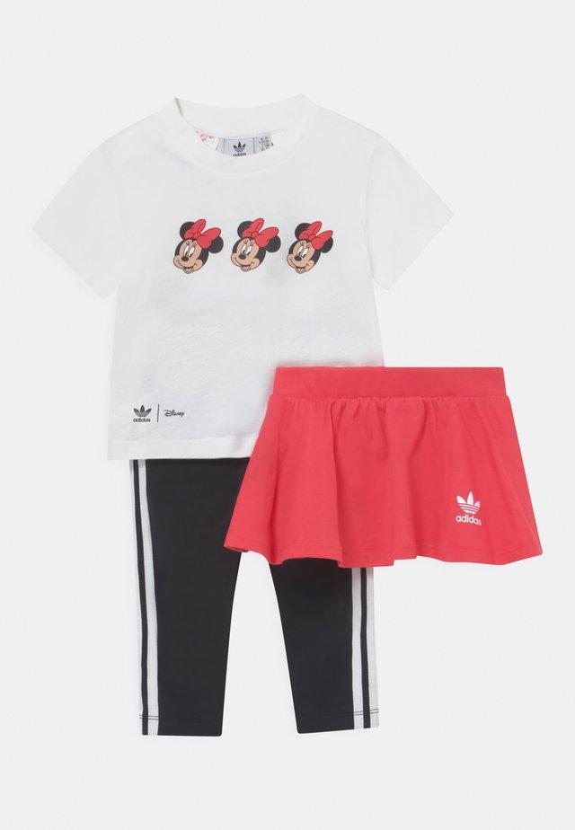 MINNIE MOUSE SKIRT TEE SET - Leggings - Trousers - white/pink/black