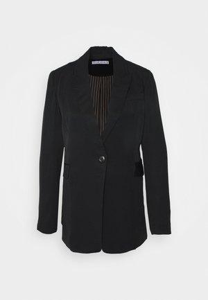 LE MODE LONGLINE - Abrigo corto - black