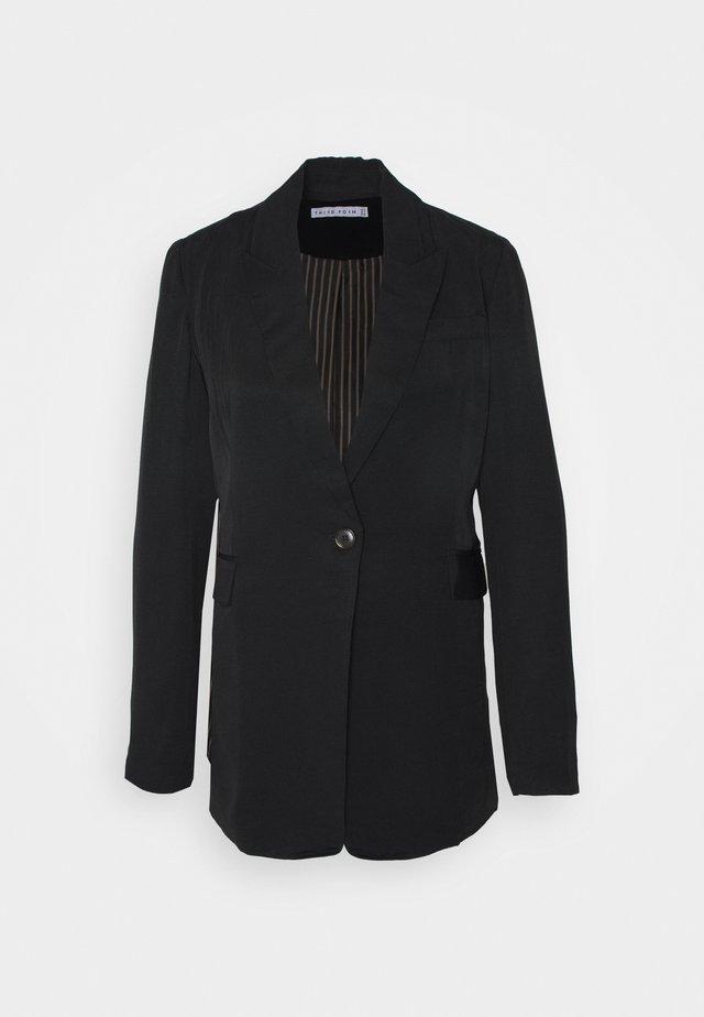 LE MODE LONGLINE - Halflange jas - black