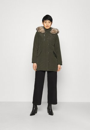 TRIM COAT - Winter coat - khaki