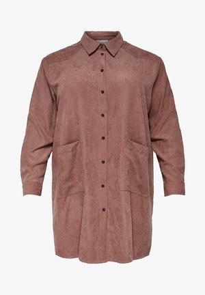 Button-down blouse - burnt henna