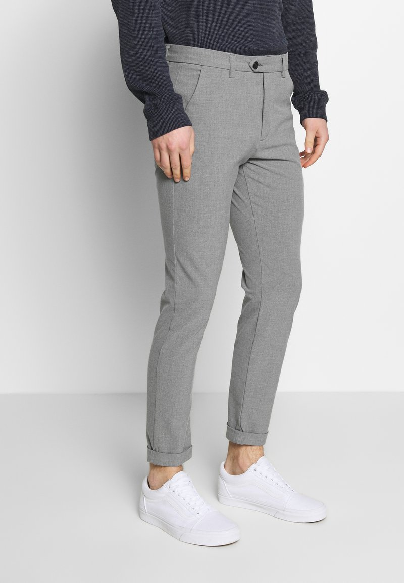 Jack & Jones - JJIMARCO JJCONNOR  - Bukser - grey melange